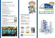 09. – 11. November 2012 Markthalle Langenthal Öffnungszeiten
