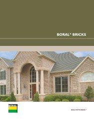 BORAL® BRICKS - Thompson Building Materials