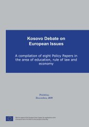 Kosovo Debate on European Issues - EUROPEUM Institute for ...