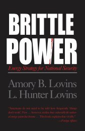Brittle Power- PARTS 1-3 (+Notes) - Natural Capitalism Solutions