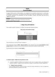 TAIGA Portail Etudiant I. Page d'accueil étudiant - École d ...