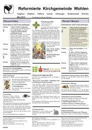 Reformierte Kirchgemeinde Wohlen