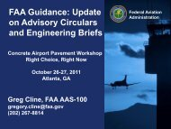 FAA Guidance - American Concrete Pavement Association