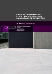 LIMITER LA FISSURATION : CONDITION ... - Febelcem