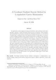 A Coordinate Gradient Descent Method for l1-regularized ... - KIAS