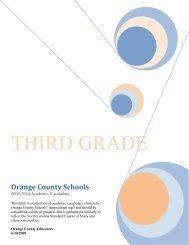 Grade 3 Essential Vocabulary List - Orange County Schools