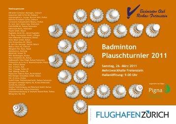 Badminton Plauschturnier 2011