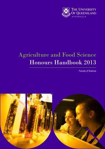 Honours Handbook - University of Queensland