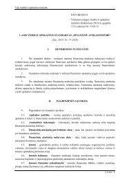 Standartas, patvirtintas 2010 m. gegužės 13 d. - Audito ir apskaitos ...
