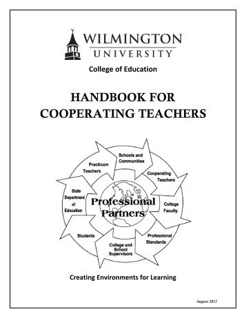 handbook for cooperating teachers - Wilmington University