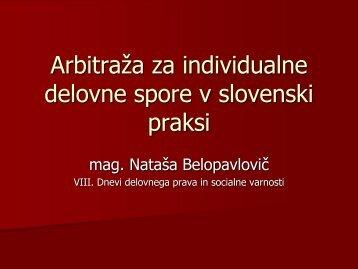 Arbitraža za individualne delovne spore v slovenski praksi - Planet GV