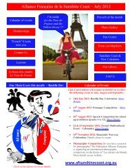Les étapes du Tour de France 2012 - Alliance Francaise   sunshine ...