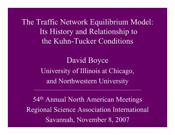 Prof. David Boyce's Fellows Lecture (PDF) - North American ...