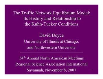 Prof. David Boyce's Fellows Lecture (PDF) - North American ...
