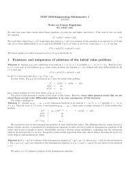 Notes on Linear Differential Equations