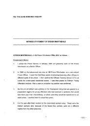 RE: THE ZAHID MUBAREK INQUIRY WITNESS STATEMENT OF ...