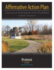 Affirmative Action Plan for Veterans - Purdue University Calumet