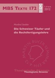 Die Schweizer Täufer und die Rechtfertigungslehre - Martin Bucer ...