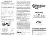 SnowSport ATV Snow Plow Owners Manual and ... - RealTruck.com