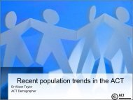 Recent population trends in the ACT - Chief Minister and Treasury ...
