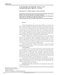 156 Case report of primary small Cell ... - Clujul Medical