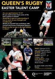 Easter Talent Camp - Queen's Sport