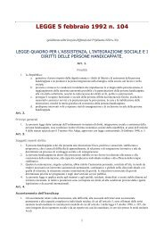 Legge 104/92 - Diversamente Onlus