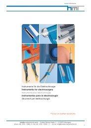 Gesamtkatalog HF-Chirurgie - Handke Medizintechnik