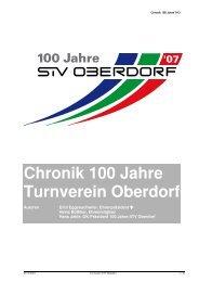 Chronik 100 Jahre Turnverein Oberdorf