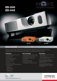 ED-X40 ED-X42 - LCD and DLP Projectors