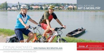 mit e-mobilität - Donauradweg