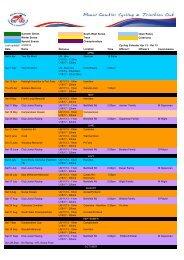 Cycling Calendar - Mount Gambier Cycling & Triathlon Club