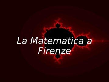 La Matematica a Firenze