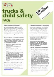 TACS FAQs - dhl uk foundation