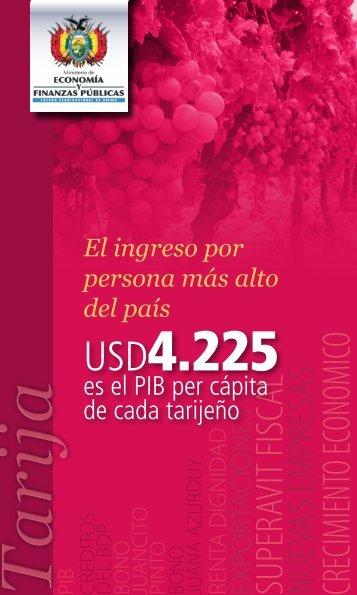 Tarija - Ministerio de Economía y Finanzas Públicas