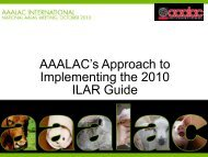 AAALAC's Approach to Implementing the 2010 ILAR Guide