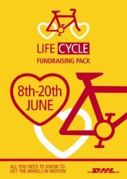 LifeCycle Fundraising Pack - dhl uk foundation