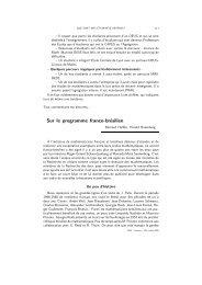Sur le programme franco-brésilien - Publications de la SMF
