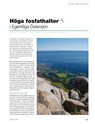 höga fosfathalter - Havet.nu