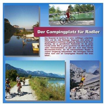 Der Campingplatz für Radler - Camping Rosental Roz