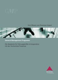 General Management Programm - Hochschule Fresenius