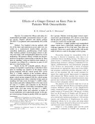 Effects of a ginger extract on knee pain in patients with ... - Nutraxin