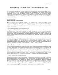 Report of Working Group on North Pacific Climate ... - PICES