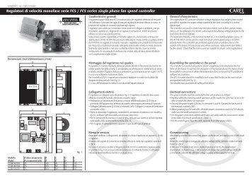 Regolatori di velocità monofase serie FCS / FCS ... - Gafco-Altron bv
