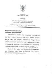 Sambutan Wakil Gubernur Kalsel Pada Kegiatan Pelantikan PPIH ...