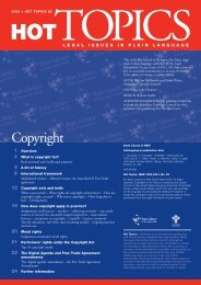 Copyright - Legal Information Access Centre