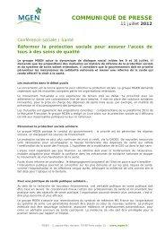 Téléchargez le communiqué de presse du 11 juillet 2012 - MGEN
