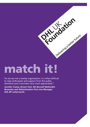 Application form - dhl uk foundation