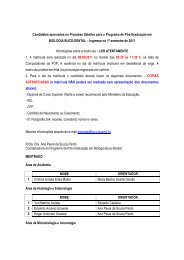 Biologia Buco-Dental - Ingresso 1º semestre/2011 - Unicamp