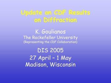 DIS 2005, Madison, WI, April 27 - Laboratory of Experimental High ...